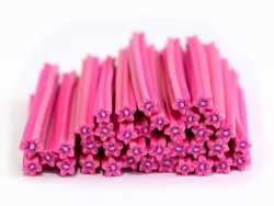 Starfish cane - pink and flower-shaped