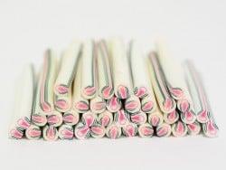 Cane bourgeon en fleur en pâte fimo - à découper en tranches