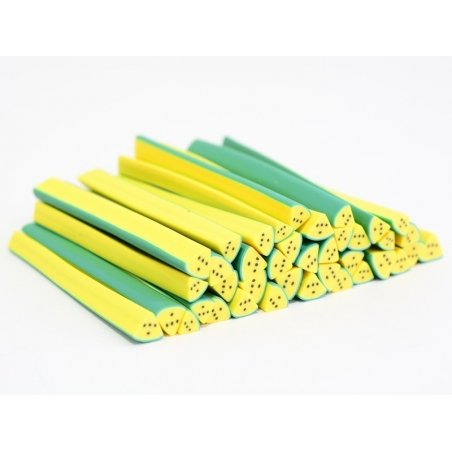 Watermelon cane - quartered, yellow