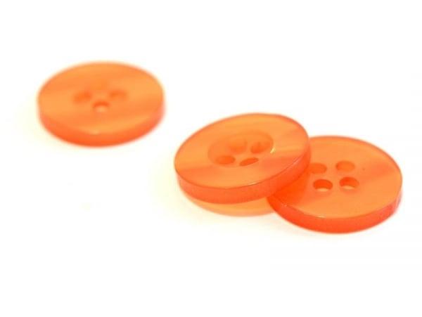 Bouton plastique 15 mm nacré orange