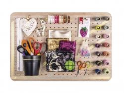 Acheter Pegboard en bois - 40 x 60 x 2,5 cm - 18,99€ en ligne sur La Petite Epicerie - Loisirs créatifs