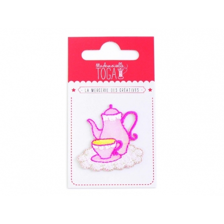 Beautiful iron-on patch - Tea set