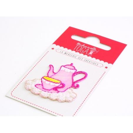 Joli écusson thermocollant - Service à thé Toga - 1