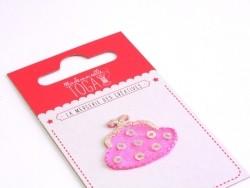 Beautiful iron-on patch - Pink purse