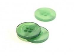 Bouton plastique 15 mm nacré vert sapin