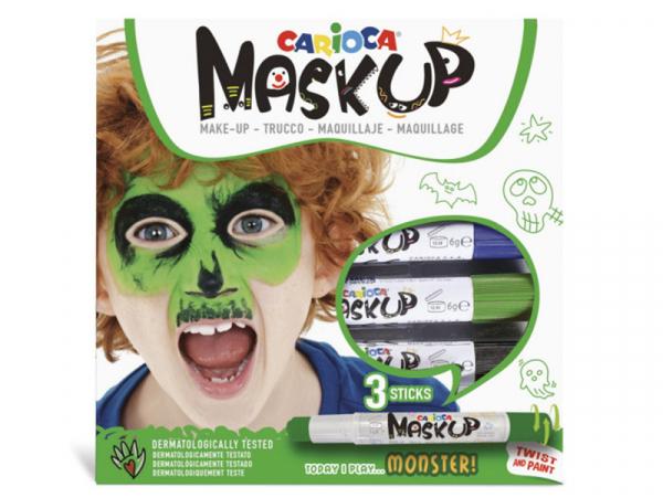 Acheter 3 sticks de peinture sur visage - Maskup Monstre - Carioca - 7,49€ en ligne sur La Petite Epicerie - Loisirs créatifs