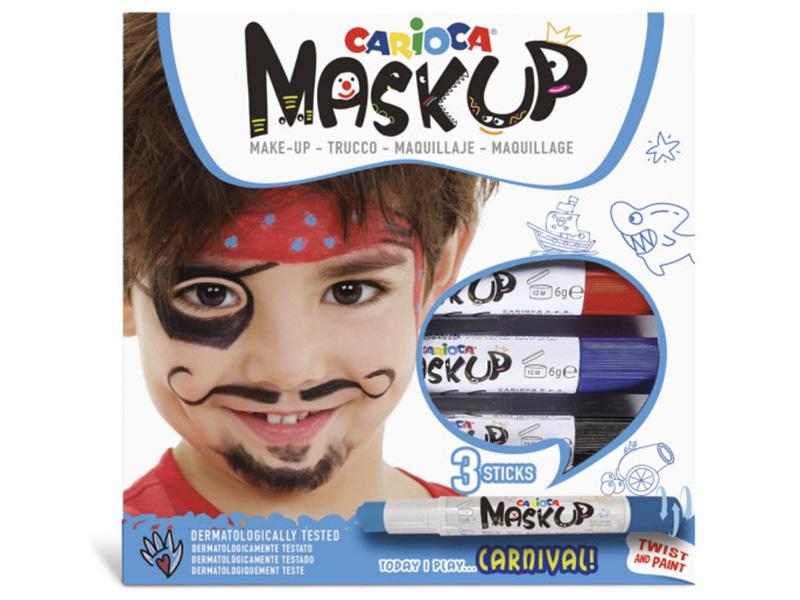 Acheter 3 sticks de peinture sur visage - Maskup Carnaval - Carioca - 7,49€ en ligne sur La Petite Epicerie - Loisirs créatifs