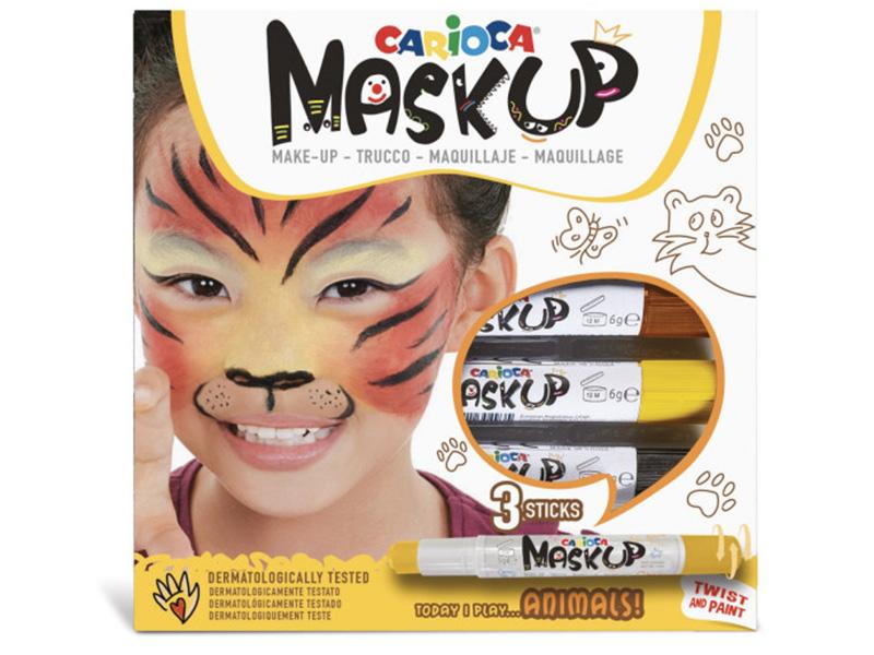 Acheter 3 sticks de peinture sur visage - Maskup Animaux - Carioca - 7,49€ en ligne sur La Petite Epicerie - Loisirs créatifs
