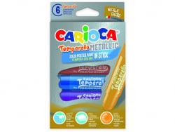 Acheter Set de 6 gouaches solides - Temperello Metallic - Carioca - 7,89€ en ligne sur La Petite Epicerie - Loisirs créatifs