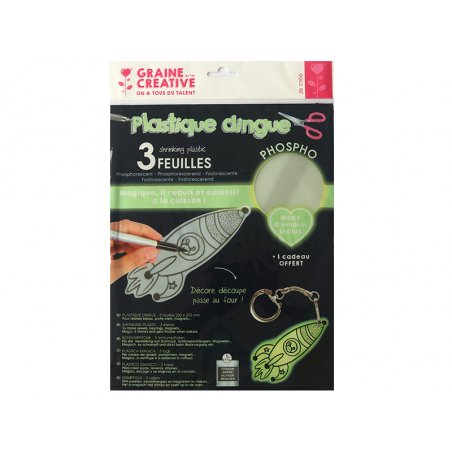Acheter 3 feuilles plastique fou / dingue - Phosphorescent - 6,99€ en ligne sur La Petite Epicerie - Loisirs créatifs
