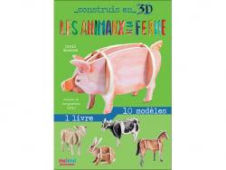 Acheter Coffret Construis en 3D Les animaux de la ferme - 10 modèles à assembler - 9,90€ en ligne sur La Petite Epicerie - L...