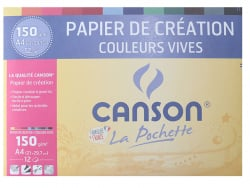 Acheter Pochette papier de création Canson - Couleurs vives - A4 150g/m² - 5,20€ en ligne sur La Petite Epicerie - Loisirs c...