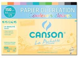 Acheter Pochette papier de création Canson - Couleurs claires - A4 150g/m² - 5,99€ en ligne sur La Petite Epicerie - Loisirs...