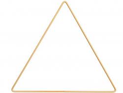 Acheter Triangle en métal doré - 20 cm - 2,79€ en ligne sur La Petite Epicerie - Loisirs créatifs