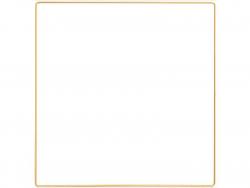 Acheter Carré en métal doré - 30 x 30 cm - 3,19€ en ligne sur La Petite Epicerie - Loisirs créatifs