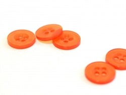 Bouton plastique 11 mm nacré rouge