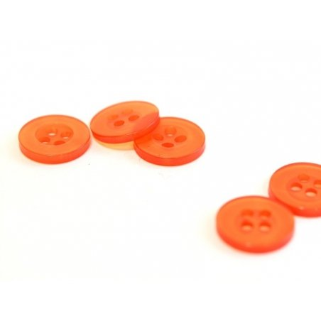 Pearlescent red plastic button (11 mm)