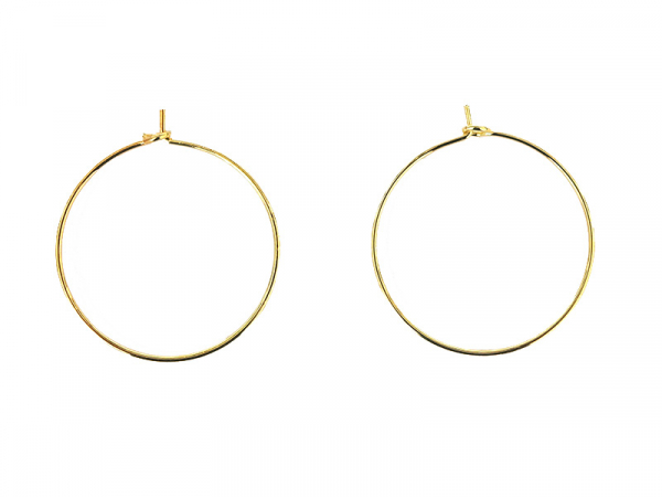 Acheter Boucles d'oreilles créoles 25 mm - plaquées or fin - 1,49€ en ligne sur La Petite Epicerie - Loisirs créatifs