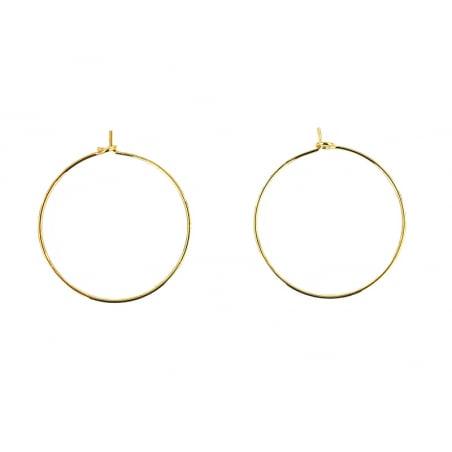 Acheter Boucles d'oreilles créoles 25 mm - Doré - 0,39€ en ligne sur La Petite Epicerie - Loisirs créatifs
