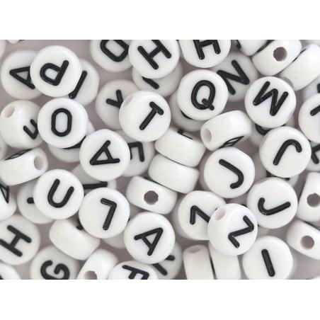 Acheter Lot de 200 perles rondes - Lettres alphabet noires - 3,99€ en ligne sur La Petite Epicerie - Loisirs créatifs