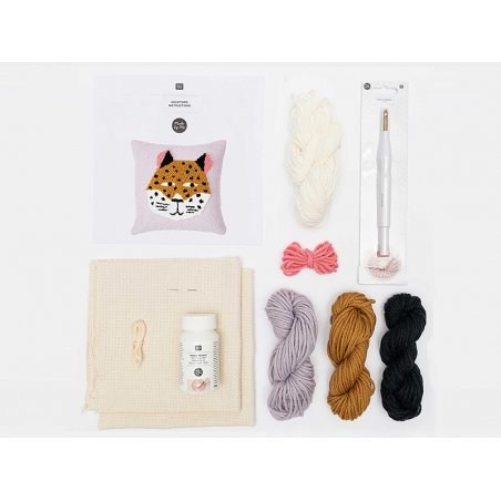 Acheter Kit punch needle - Coussin léopard - 44,99€ en ligne sur La Petite Epicerie - Loisirs créatifs