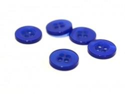 Bouton plastique 11 mm nacré bleu