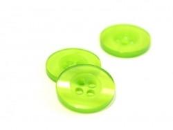 Pearlescent grass-green plastic button (15 mm)