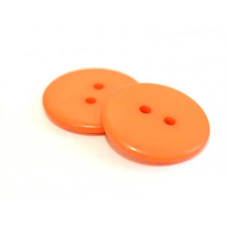 Coral-red plastic button (23 mm)