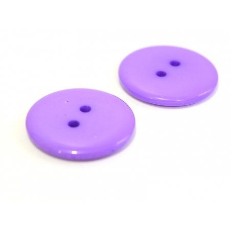 Violet plastic button (23 mm)
