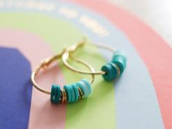 Acheter Boucles d'oreilles créoles 25 mm - plaquées or fin 24K - 2,39€ en ligne sur La Petite Epicerie - Loisirs créatifs