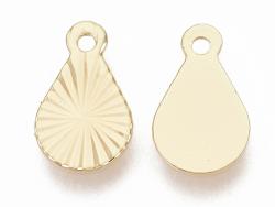 Acheter Breloque larme 10 mm- laiton plaqué or fin 18K - 0,79€ en ligne sur La Petite Epicerie - Loisirs créatifs