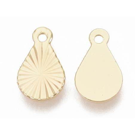 Acheter Breloque larme 10 mm - doré à l'or fin 18k - 0,79€ en ligne sur La Petite Epicerie - Loisirs créatifs