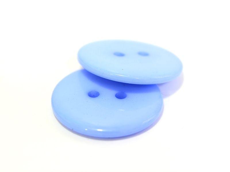 Blue plastic button (23 mm)