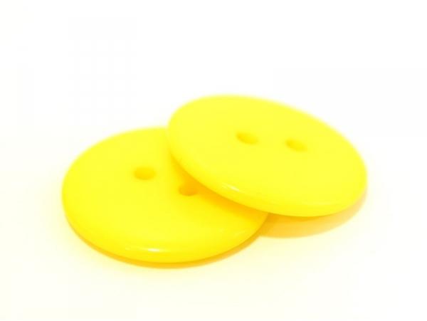 Yellow plastic button (23 mm)