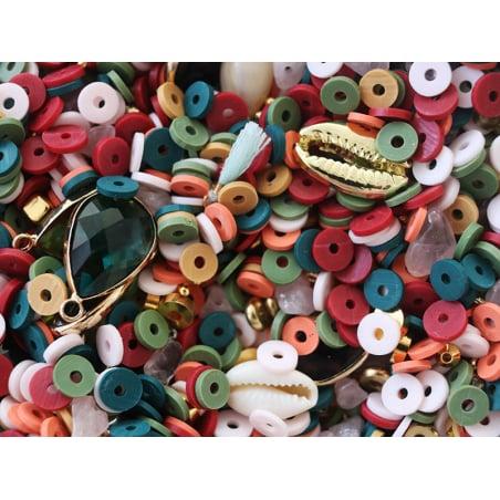 Acheter Mélange de perles heishi et de breloques - Dakar - 5,99€ en ligne sur La Petite Epicerie - Loisirs créatifs