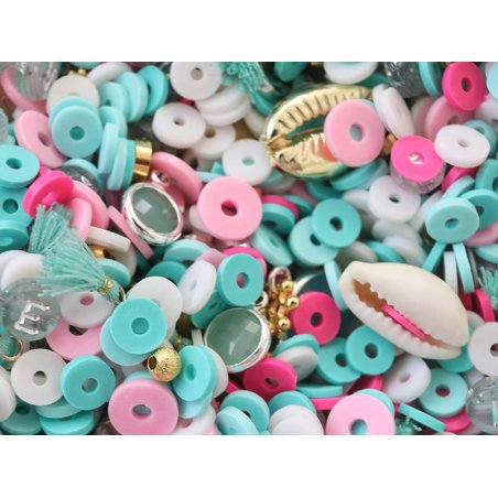 Acheter Mélange de perles heishi et de breloques - Tahiti - 6,99€ en ligne sur La Petite Epicerie - Loisirs créatifs