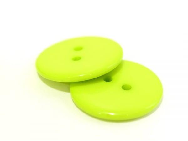 Apple-green plastic button (23 mm)