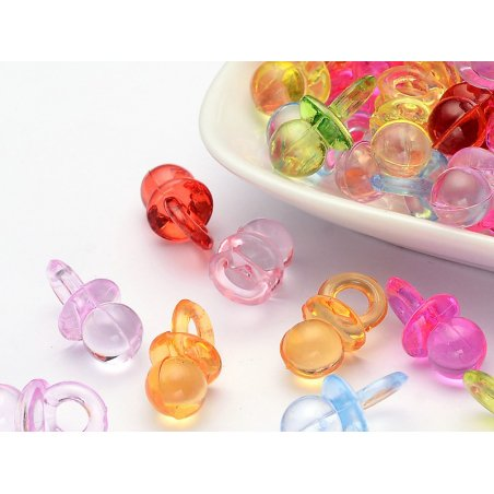 Acheter Lot de 10 petites tétines en plastique - mix couleurs aléatoires - 1,99€ en ligne sur La Petite Epicerie - Loisirs c...
