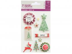 Acheter 10 stickers sapins Noel 3D - 4,29€ en ligne sur La Petite Epicerie - Loisirs créatifs