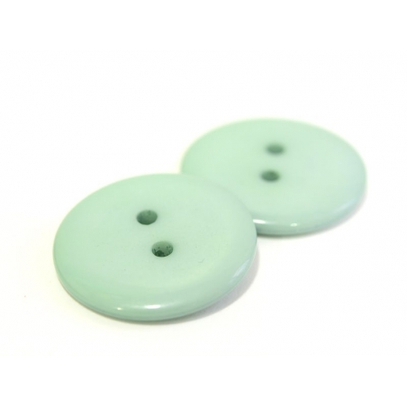 Plastic button (23 mm) - bluish green