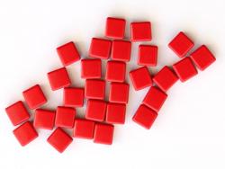 Acheter Lot de 10 perles tuiles carrées en métal de 7x7 mm - Rouge - 3,99€ en ligne sur La Petite Epicerie - Loisirs créatifs
