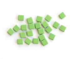 Acheter Lot de 10 perles tuiles carrées en métal de 7x7 mm - Vert clair - 3,99€ en ligne sur La Petite Epicerie - Loisirs cr...