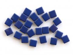 Acheter Lot de 10 perles tuiles carrées en métal de 7x7 mm - Bleu marine - 3,99€ en ligne sur La Petite Epicerie - Loisirs c...