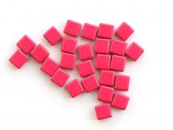 Acheter Lot de 10 perles tuiles carrées en métal de 7x7 mm - Rose opaque - 3,99€ en ligne sur La Petite Epicerie - Loisirs c...