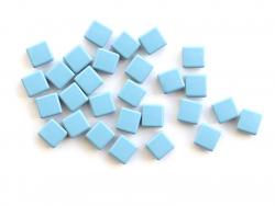 Acheter Lot de 10 perles tuiles carrées en métal de 7x7 mm - Bleu ciel - 3,99€ en ligne sur La Petite Epicerie - Loisirs cré...