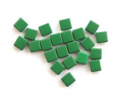 Acheter Lot de 10 perles tuiles carrées en métal de 7x7 mm - Vert foncé - 3,99€ en ligne sur La Petite Epicerie - Loisirs cr...