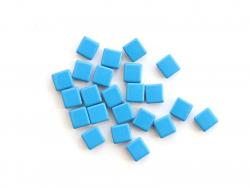 Acheter Lot de 10 perles tuiles carrées en métal de 7x7 mm - Bleu mat - 3,99€ en ligne sur La Petite Epicerie - Loisirs créa...