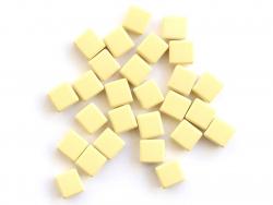 Acheter Lot de 10 perles tuiles carrées en métal de 7x7 mm - Jaune opaque - 3,99€ en ligne sur La Petite Epicerie - Loisirs ...