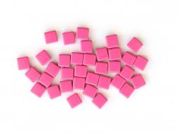 Acheter Lot de 10 perles tuiles carrées en métal de 7x7 mm - Rose bonbon - 3,99€ en ligne sur La Petite Epicerie - Loisirs c...