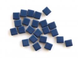 Acheter Lot de 10 perles tuiles carrées en métal de 7x7 mm - Bleu nuit - 3,99€ en ligne sur La Petite Epicerie - Loisirs cré...